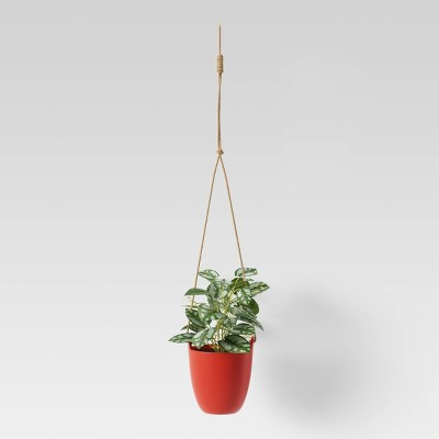 Artificial Hanging Potted Plant Red - Room Essentials™
