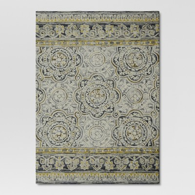 5'x7' Floral Belfast Area Rug Neutral - Threshold™