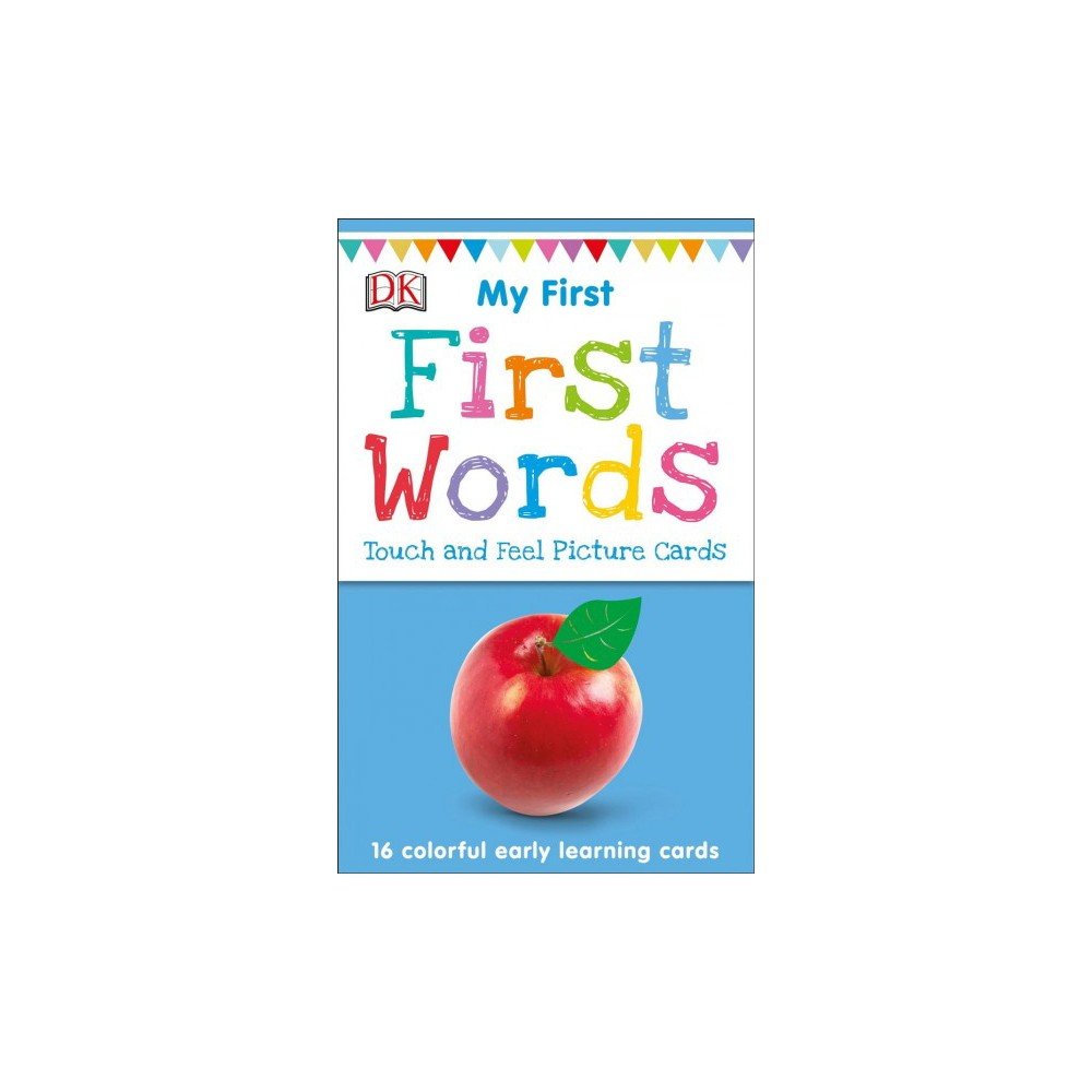 First Words - Crds (My First Touch and Feel Picture Cards) by Jane Yorke (Paperback) Give your toddler a head start with these 16 colorful first words flash cards, expertly designed to develop early language skills, and ideal for preschool play. With a vibrant image and an exciting tactile on every flashcard, DK's sturdy picture cards make learning first words fun. Talking points on the back of each card reinforce learning, helping to familiarize children with the feel, shape, color, and sound of each object, from shiny keys to the soft and colorful ball. Each card includes Spanish, French, German, and Chinese translations, and phonetic spellings of each word, and there is an additional card for parents with tips for creative learning games for you and your little one to share. Each card has a touch and feel area and the set includes: dog, teddy bear, baby, keys, tractor, car, fire truck, ball, fish, cat, corn, apple, mirror, shoes, jelly, sweater With a range of popular early learning topics for young children, including My First Animals Picture Cards, My First Colors and Shapes Picture Cards, My First Farm Picture Cards, My First Numbers and Counting Picture Cards, and My First Things That Go Picture Cards choose the perfect picture card pack for you and your toddler.