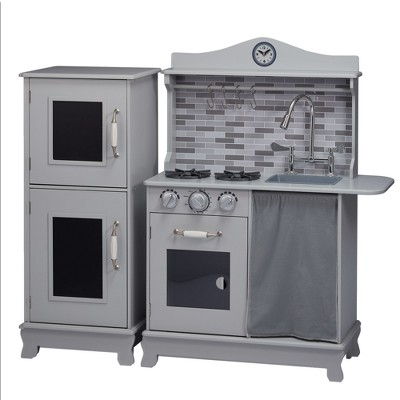 Teamson Kids Sunday Brunch Wooden Play Kitchen U2013 Gray