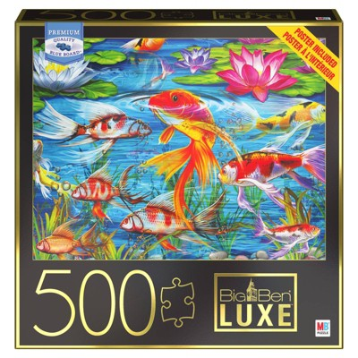 Milton Bradley Big Ben Luxe: Koi Fish Jigsaw Puzzle - 500pc