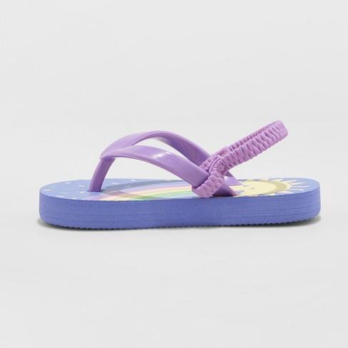 3d79f0a87 Toddler Girls  Keira Rainbow Flip Flop Sandals - Cat   Jack™ Purple   Target