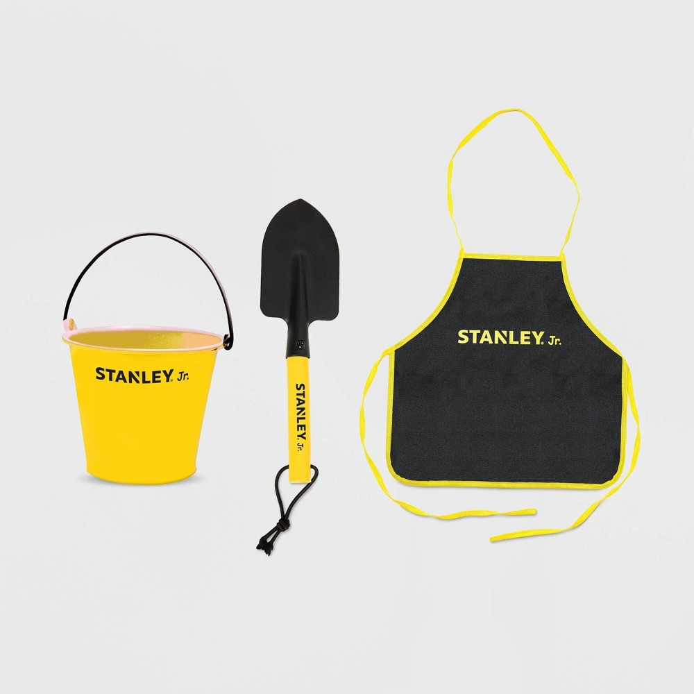 Image of 3pc Garden Tool Set (Includes Pail, Hand Trowel, Apron) - Stanley Jr.