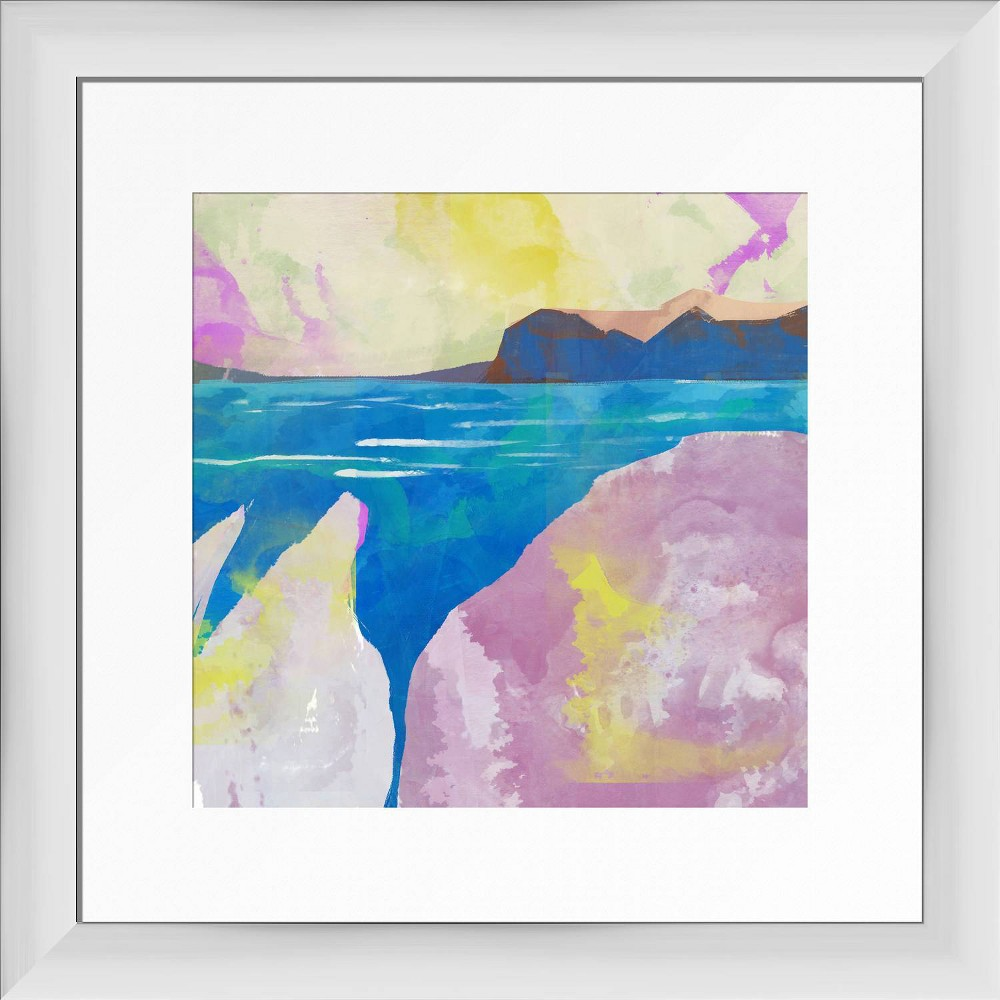 13 34 X 13 34 Prime Beach Framed Wall Art White Ptm Images