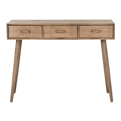 Albus 3 Drawer Console Table Chocolate - Safavieh