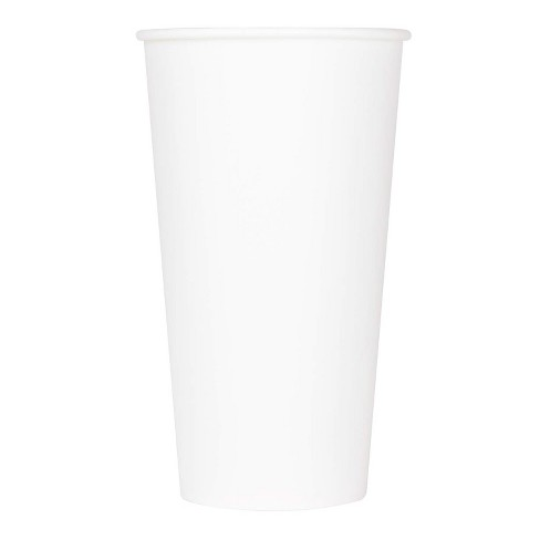 Karat C-KCP9W 32 Ounce Poly Lined Sturdy Sweat Resistant To Go High Quality Recyclable Paper Cold Cups for Soda Smoothies, and Milkshakes, 600, White - image 1 of 4