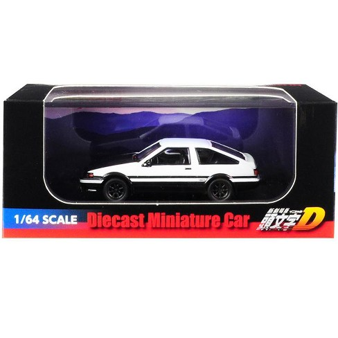 """Toyota Sprinter Trueno (AE86) White with Black Bottom & Carbon Hood """"Initial D"""" (2016) Movie 1/64 Diecast Car by Kyosho - image 1 of 1"""