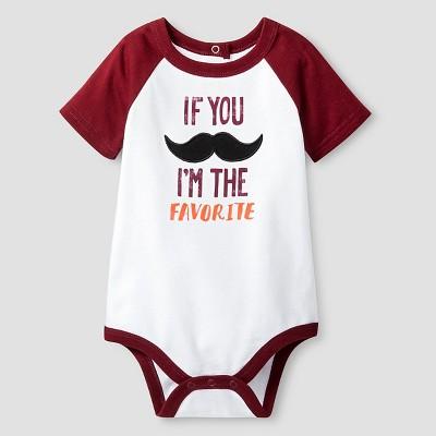 Baby Boys' Short Sleeve If You Mustache Bodysuit Cat & Jack™ - White 3-6M