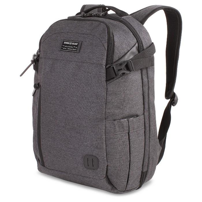 "SWISSGEAR Getaway 18"" Weekend Laptop Backpack - Heather Gray - image 1 of 5"