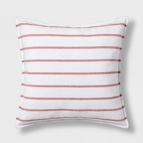 Oversize Square Throw Pillow Red