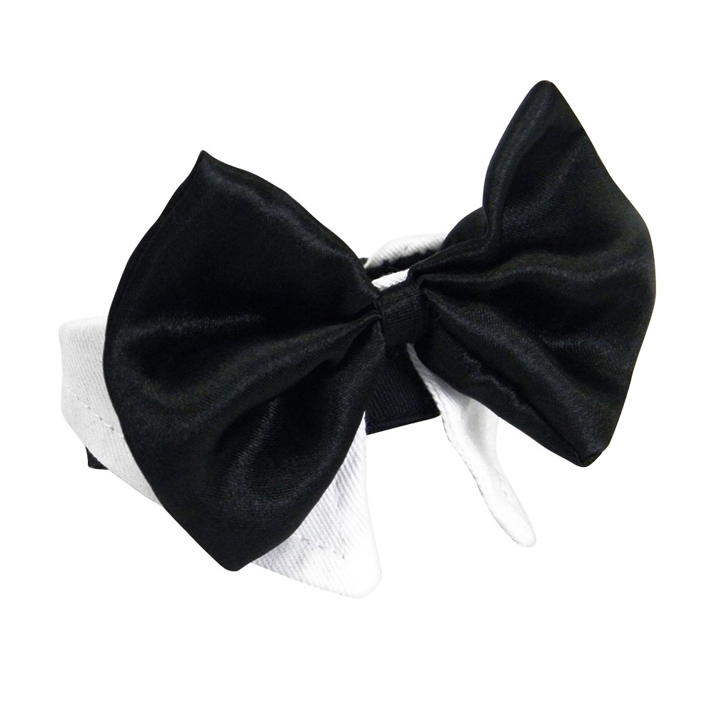 Platinum Pets Bowtie For Holiday Dog And Cat Black 38 White S