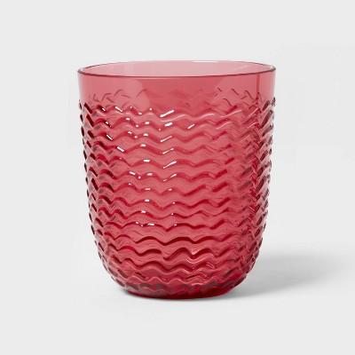 13oz Plastic Wave Texture Short Tumbler Pink - Opalhouse™