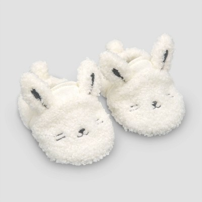 Baby Bunny Constructed Bootie Slipper - Just One You® made by carter's Gray Newborn