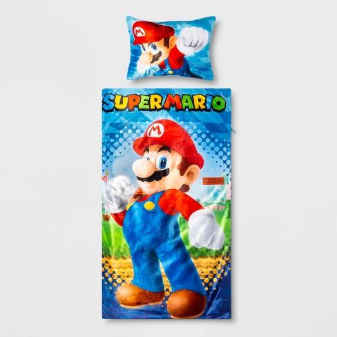 Super Mario All The Stars Sleeping Bag Pillowset Target