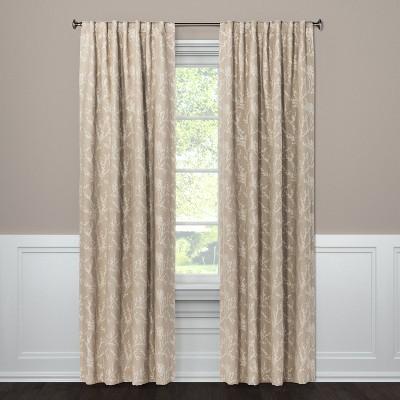 Blackout Curtain Panel Edalene Tan 95  - Threshold™