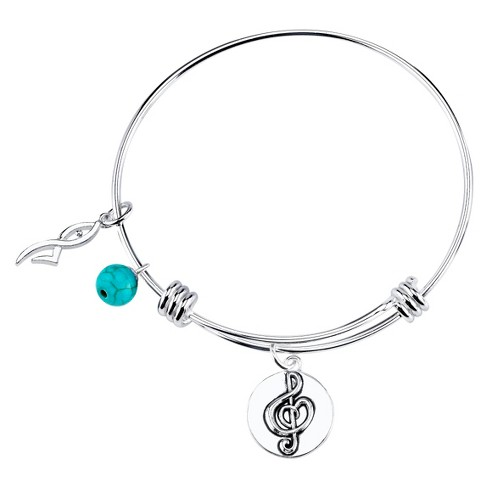 "Stainless Steel Dancer Charm Expandable Bracelet - 8"" - image 1 of 1"