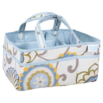 Waverly Baby by Trend Lab Diaper Caddy - Pom Pom - Light Blue Floral