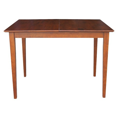 Counter Height Extension Dining Table Wood/Espresso - International Concepts - image 1 of 2