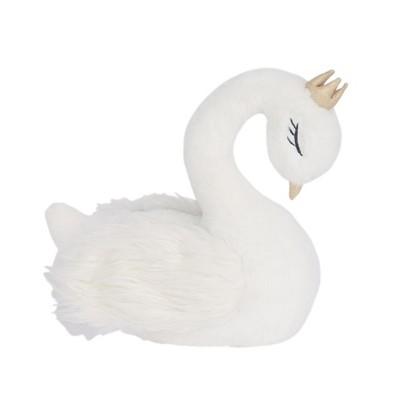 Lambs & Ivy Signature Swan Princess Plush White Stuffed Animal Toy - Princess