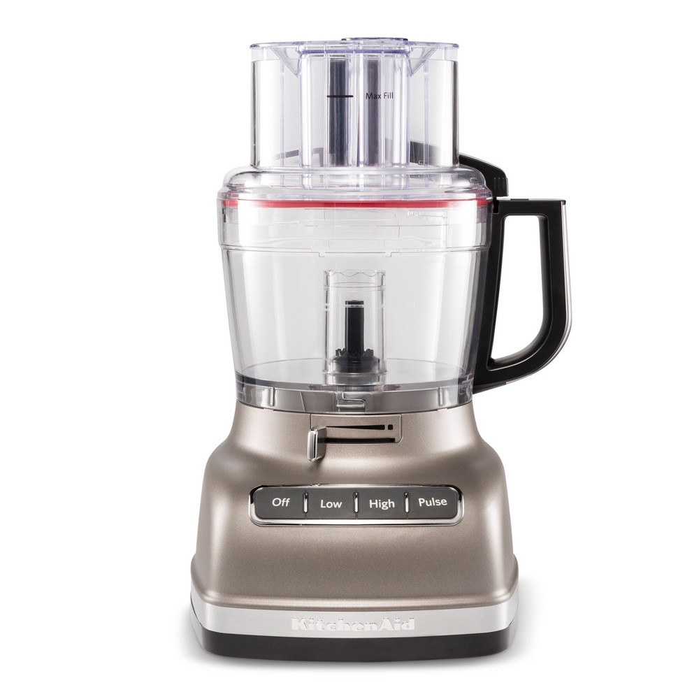 KitchenAid Refurbished 11 cup Food Processor with ExactSlice System – Cocoa Silver RKFP1133 53791935