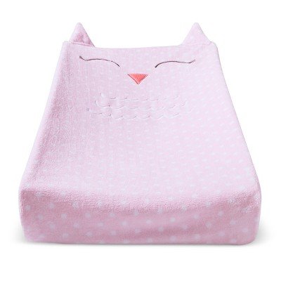 Plush Changing Pad Cover Owl - Cloud Island™ - Pink