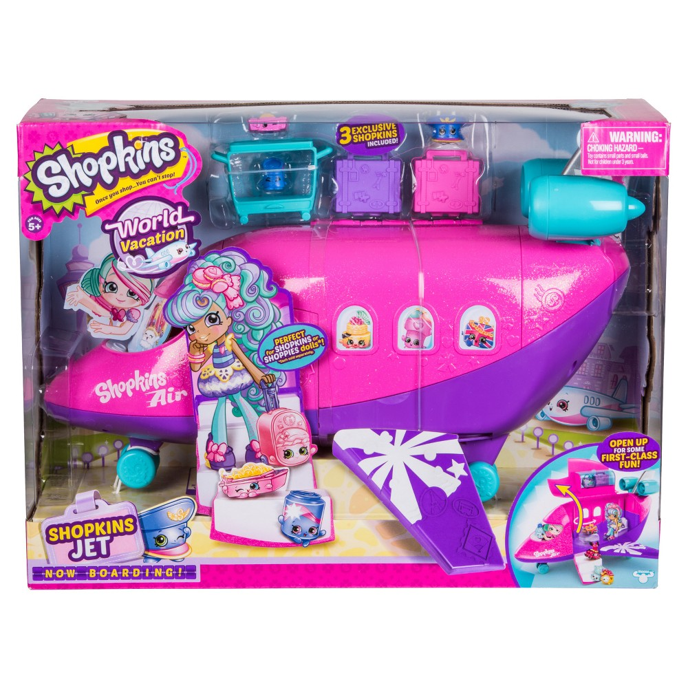 Shopkins World Vacation Airplane Playset