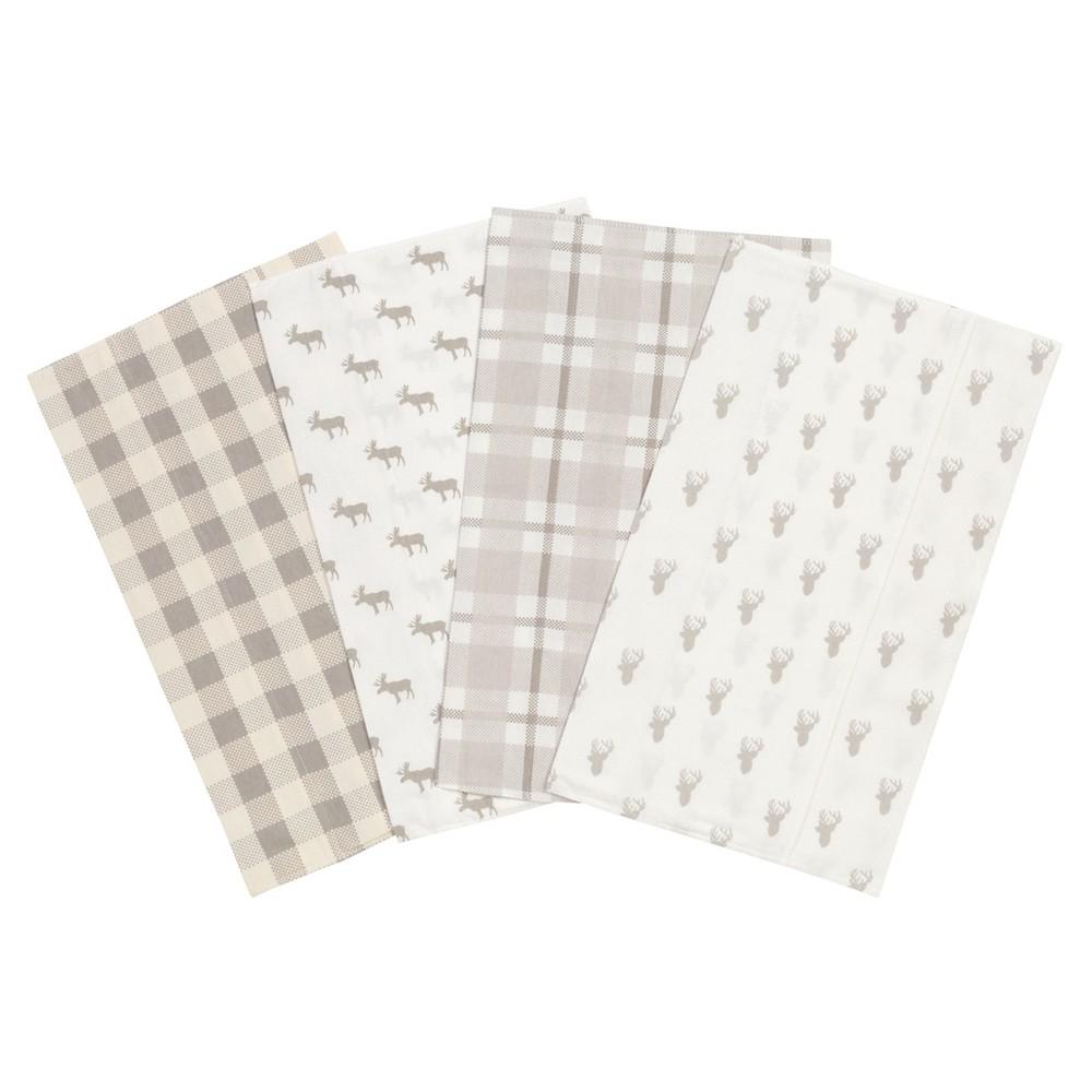 Trend Lab Burp Cloth Set Lt Gray, Light Gray