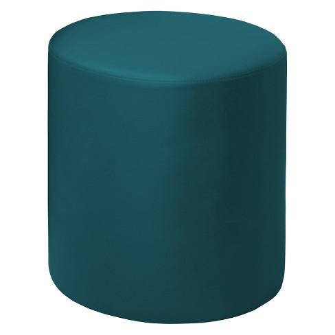 Tremendous Logan Round Ottoman Teal Niche Uwap Interior Chair Design Uwaporg