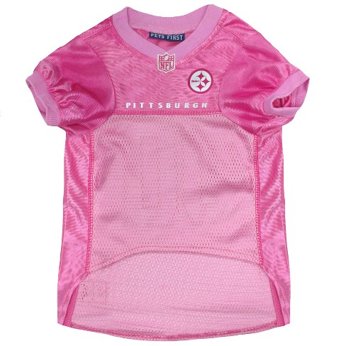 b1e301c61 Pittsburgh Steelers Pets First Pink Pet Football Jersey - Pink XS ...