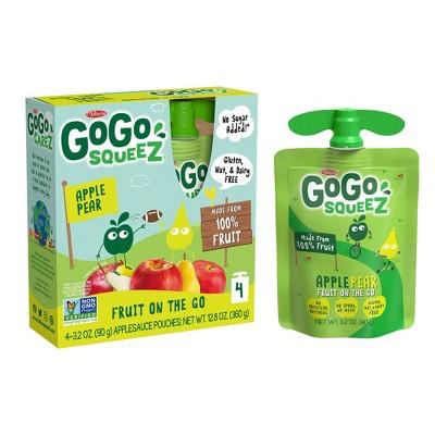 GoGo squeeZ Applesauce, Apple Pear - 3.2oz/4ct