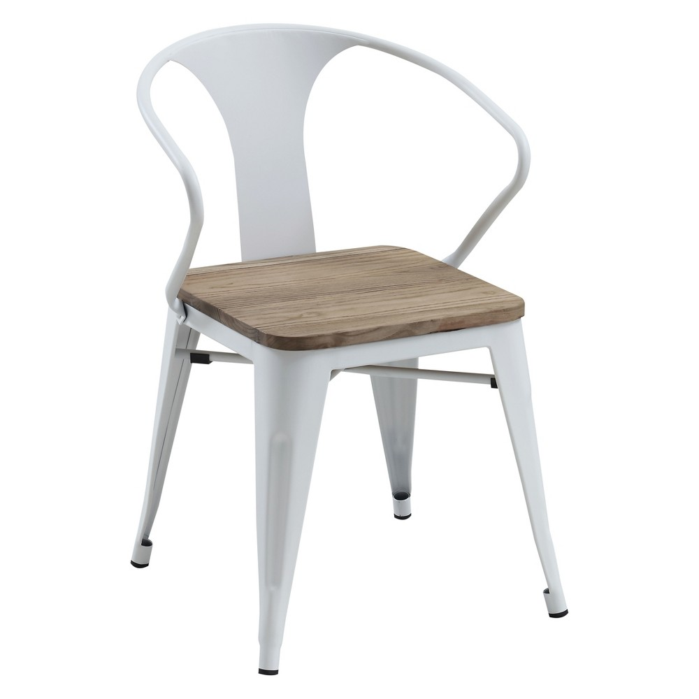 Clarkson Industrial Inspired Dining Side Chair White - Homes: Inside + Out