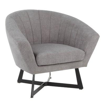 Portman Contemporary Club Chair Black/gray - Lumisource : Target