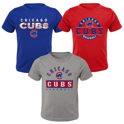 MLB Chicago Cubs Toddler Boys' 3pk T-Shirt Set