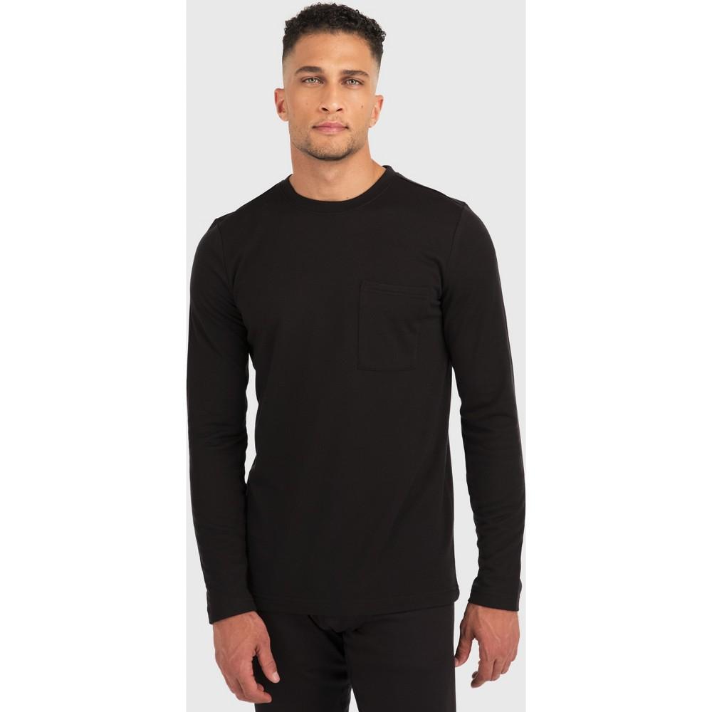 Image of Men's Wilder Long Sleeve Tech Fleece Shirt - Black L, Size: Large