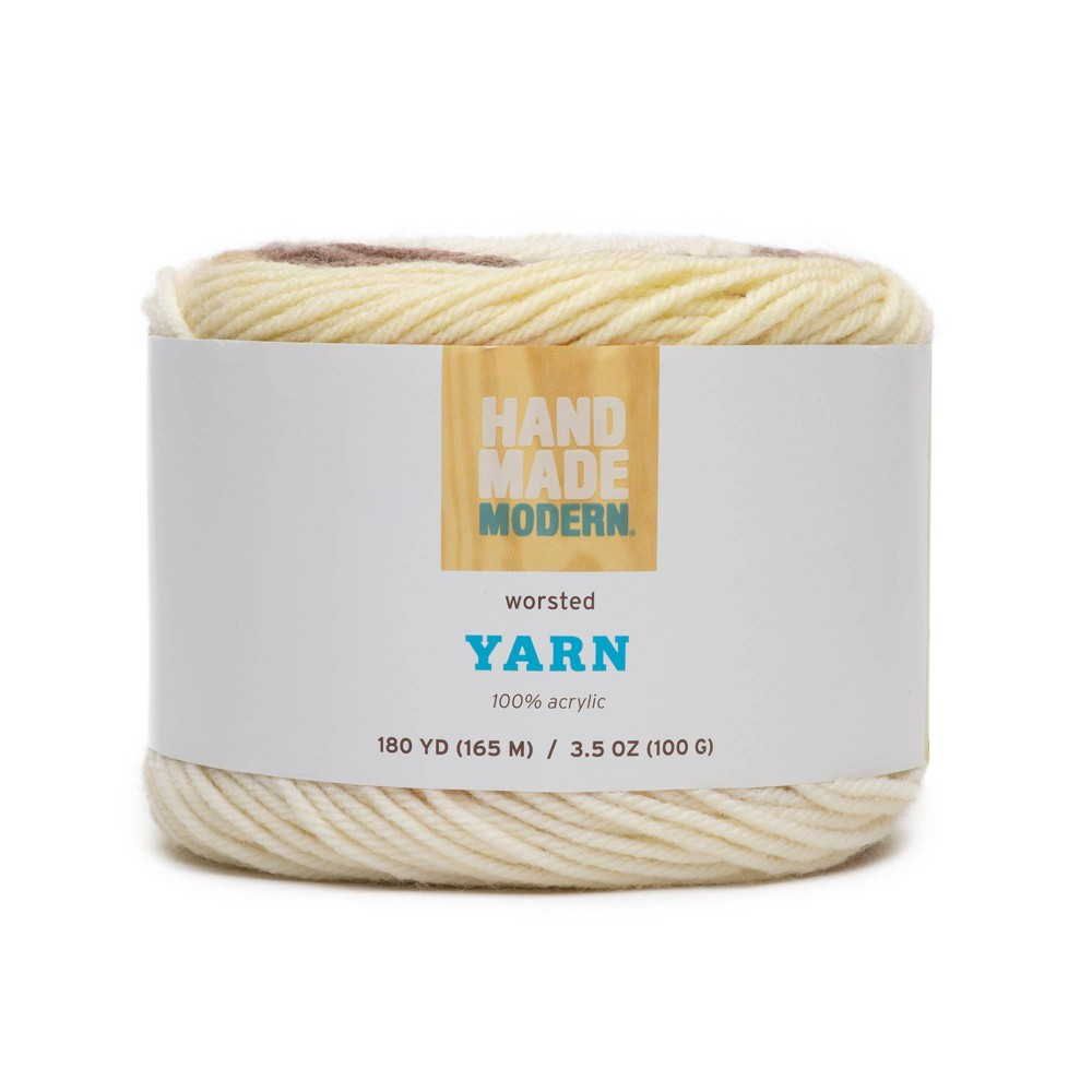 Image of 180yd Worsted Yarn - Hand Made Modern Light Brown