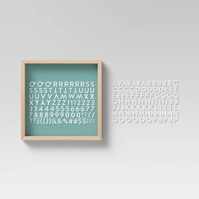 """12"""" x 12"""" Chalkboard and Letterboard Green - Room Essentials™"""