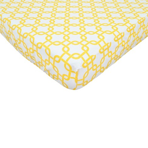 TL Care Golden Yellow Twill Fitted Crib Sheet - image 1 of 1