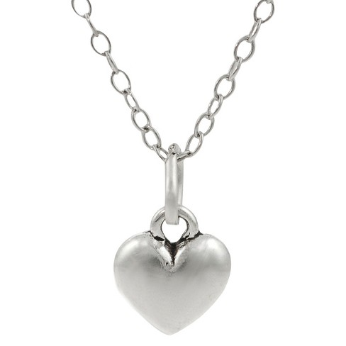 Sterling Silver Children's Heart Necklace - Silver - image 1 of 2