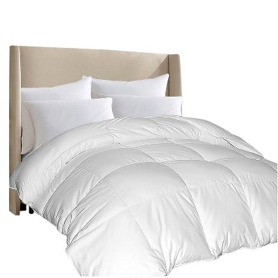 100% Egyptian Cotton Comforloft® Down Alternative Comforter King White - Blue Ridge Home Fashions