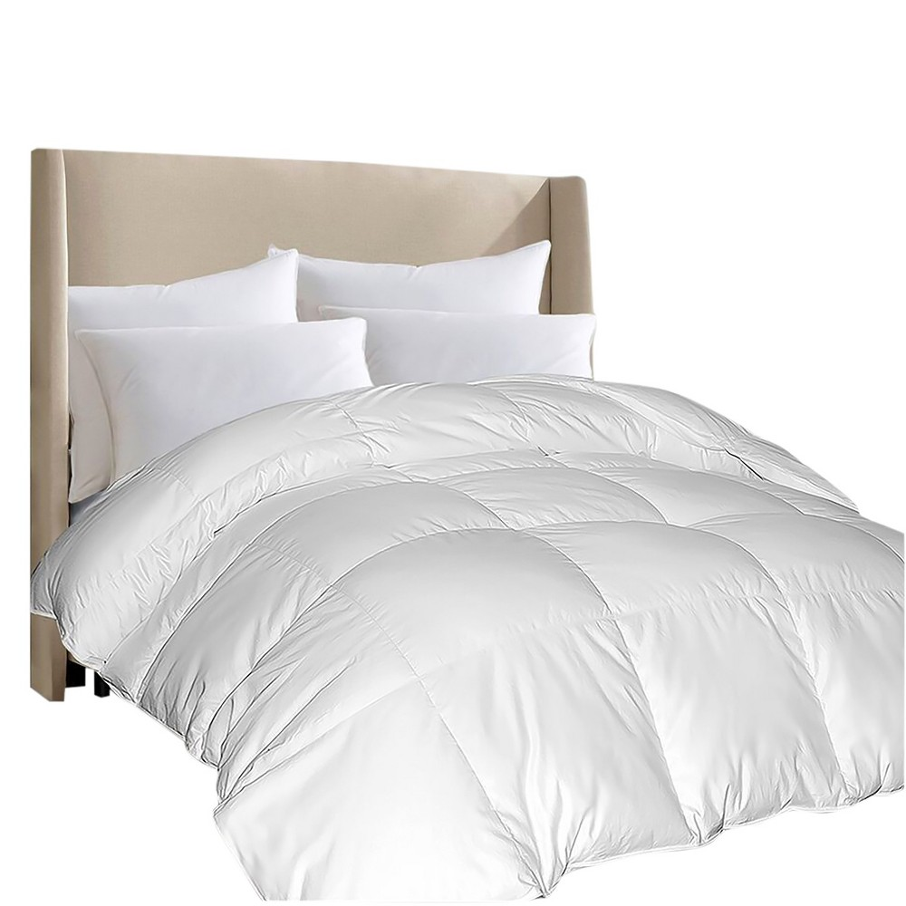 Image of 100% Egyptian Cotton Comforloft Down Alternative Comforter King White - Blue Ridge Home Fashions