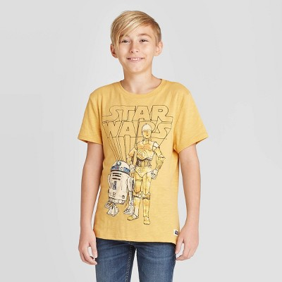 Star Wars Nine Droids Boys Light Blue Heather T-Shirt