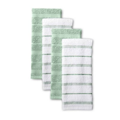 KitchenAid 4pk Cotton Albany Kitchen Towels Light Green