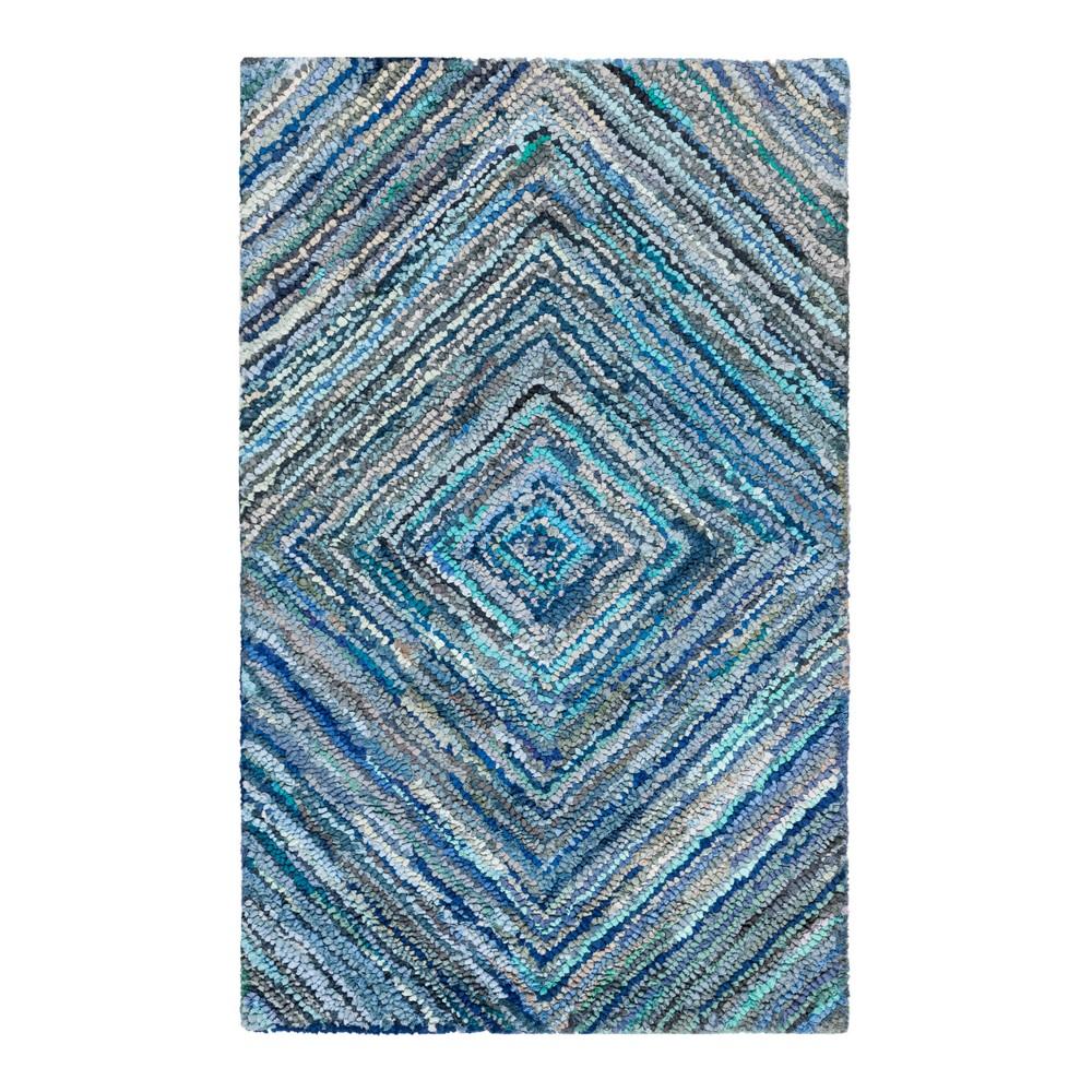 Blue Swirl Tufted Accent Rug 3'X5' - Safavieh