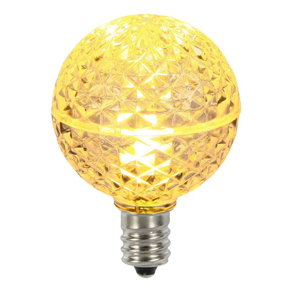5ct G40 Faceted Yellow Christmas Replacement Light Bulbs