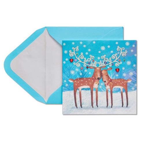 Papyrus Two Reindeer Greeting Card - image 1 of 4