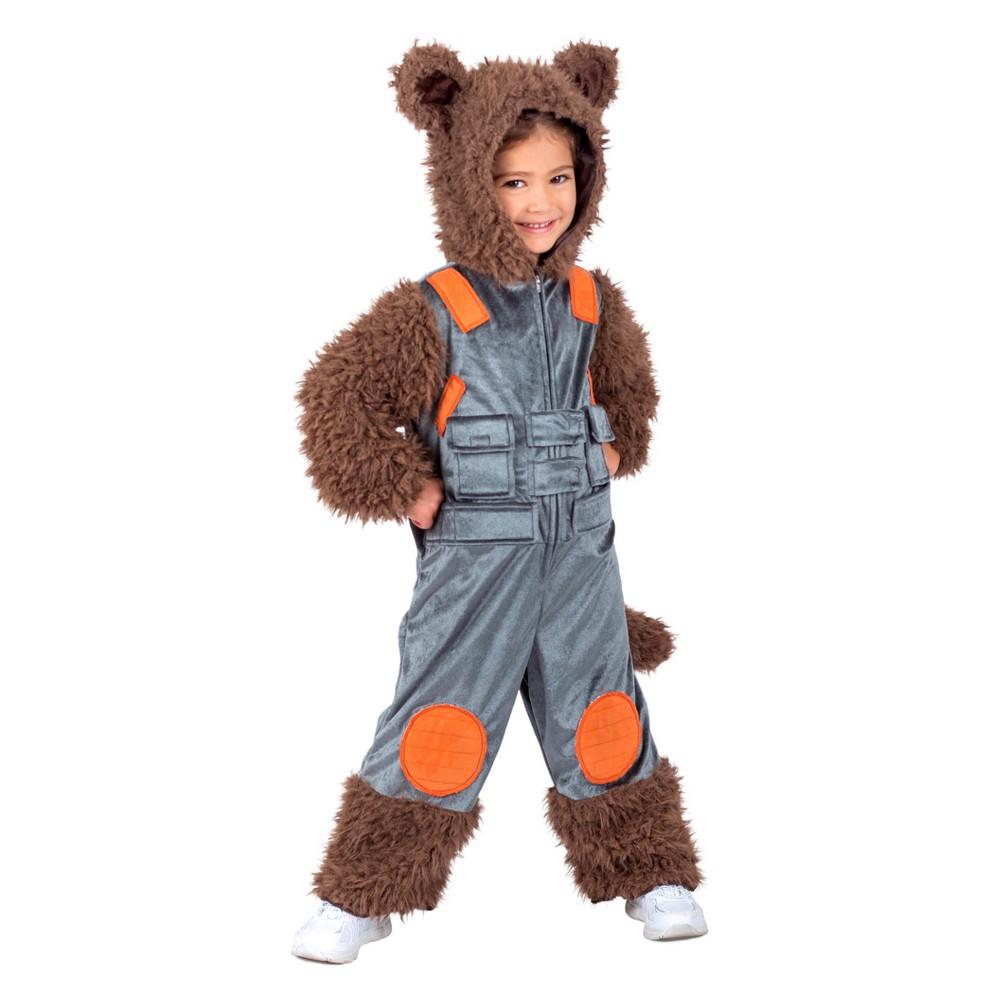 Marvel Kids' Rocket Raccoon Halloween Costume - XS, Kids Unisex, Multicolored