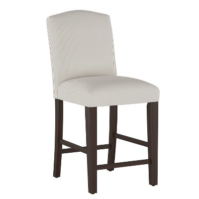 Camel Back Counter Height Barstool Oxford Stripe Taupe - Skyline Furniture