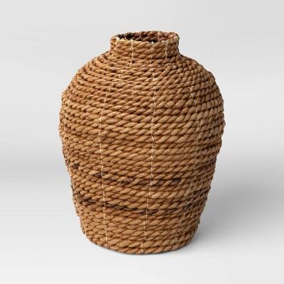 "10"" x 8"" Abaca Woven Harvest Vase Brown - Threshold™"