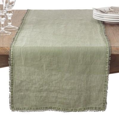 Soft Sage Solid Napkin - Saro Lifestyle