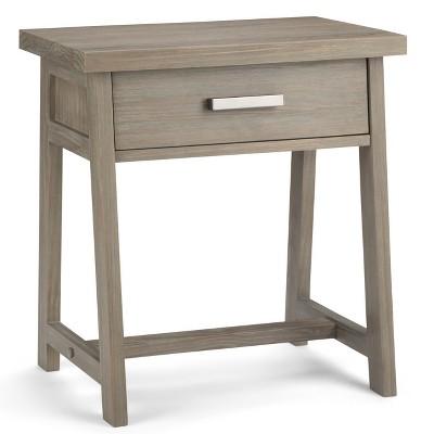 "24"" Hawkins Solid Wood Nightstand Distressed Gray - Wyndenhall"
